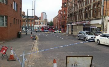 Investigation underway after a man found with life-threatening injuries in the city centre.