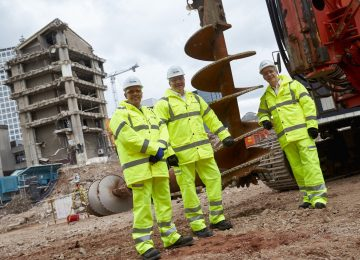 Foundation work begins on the £500m Paradise development.