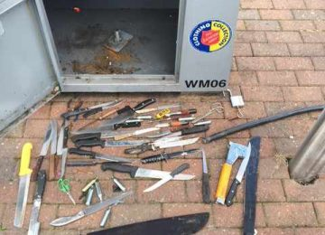 Knives, pistols and live ammunition left in weapon surrender bins across Birmingham and the Black Country.