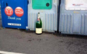 Throwback Thursday – Champagne bottle spotted outside Waitrose in Harborne