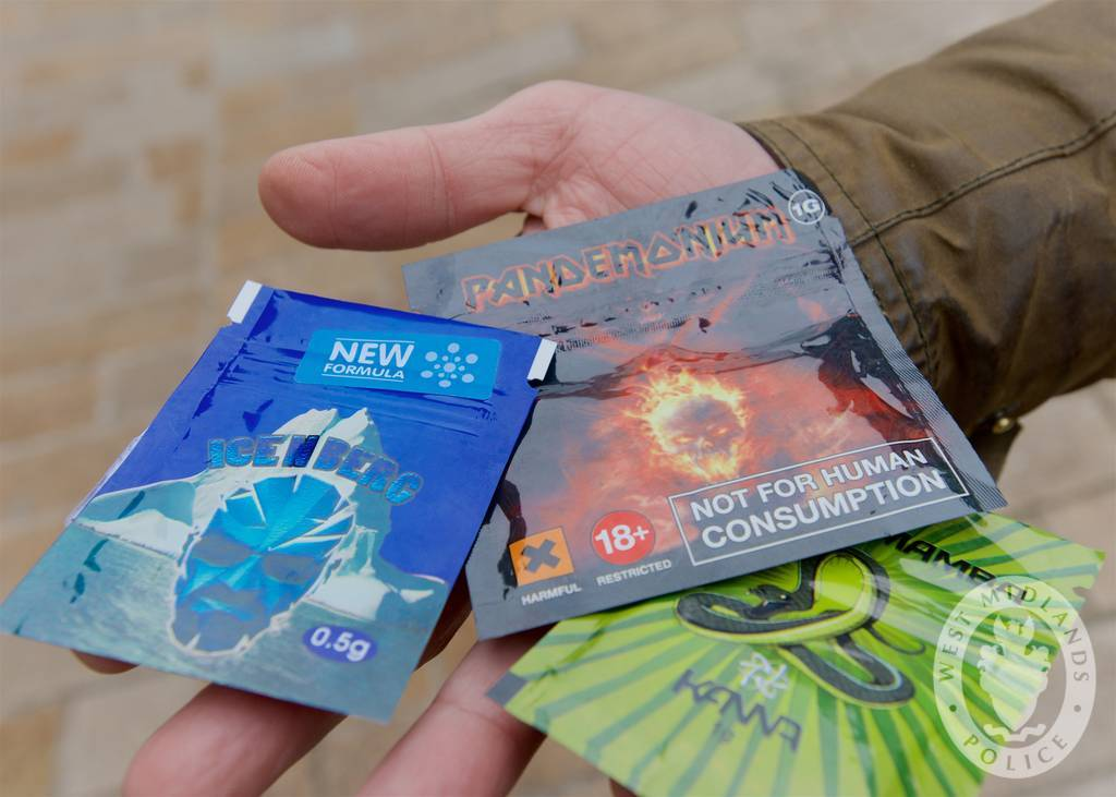 Some Legal Highs that have previously been on sale.  Police and Trading Standards officers visit shops informing the owners of changes to law governing the sale of Legal Highs.