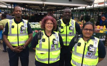 Shoppers and traders welcome the introduction of new market enforcement officers.