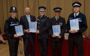 Police Officers commended for their actions as man threatens suicide.