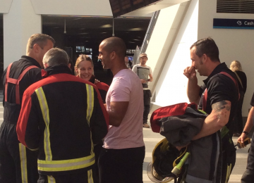 Firefighters called to New Street Station following reports of a man with a ring.