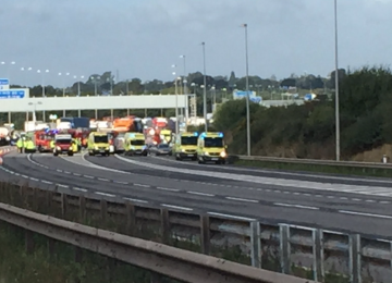 Lorry driver sadly dies following a multi-vehicle collision the M6.