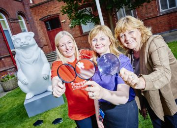 First cele-bear-ity bear announced for the Big Sleuth.