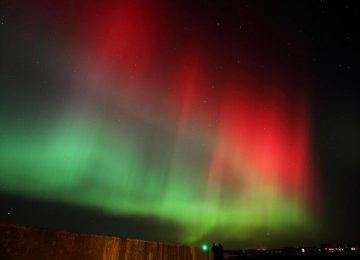 Aurora Borealis (aka Northern Lights) could be visible across the UK tonight.