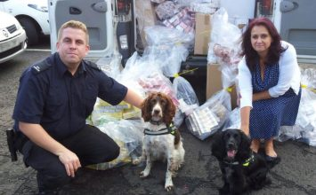 120,000 illegal cigarettes (worth £27K) seized during raids in East Birmingham.