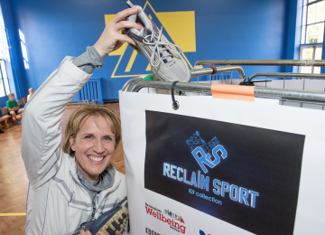 Olympic medalist Katharine Merry launches BBC sports project in Shard End.