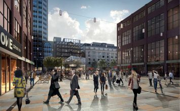 Proposed new-look for Snow Hill Square, part of a £10 million improvement project for the area.