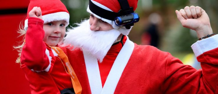 Pull on your Santa suit for a festive fun run at Cannon Hill Park.