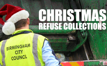 Birmingham refuse collections for Christmas and New Year.