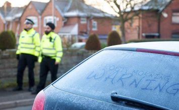 West Midlands Police is warning drivers not to wander off and leave their cars running to defrost.
