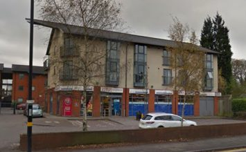 Tesco Express on Hagley Road robbed by five men armed with hammers and a knife.