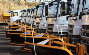 Birmingham City Council gritters heading out for the first time this winter season.