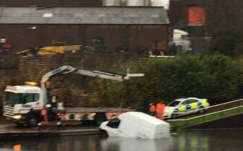 Two council vans used to transport equipment to elderly and disabled people found dumped in canal