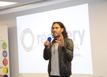 Russell Brand named as patron of Digbeth charity that helps people beat their addiction with drink and drugs.