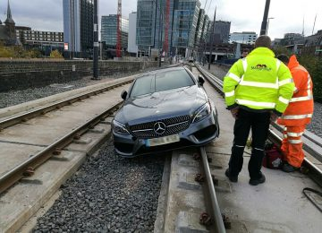 "Drink driver who took a ""wrong turn"" and ended up on tram tracks gets disqualified from driving."