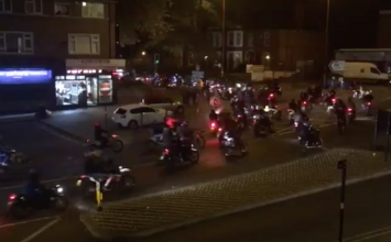 Seven people arrested and ten motorcycles seized after gang of 200 rode amok in Birmingham and Solihull.