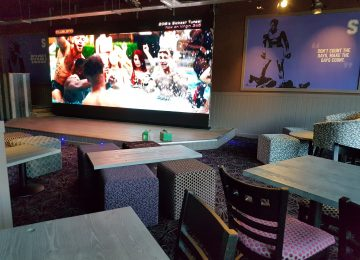 New sports bar Shooters opens on Broad Street – It features the biggest TV of any bar in city.