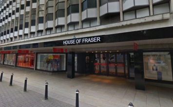 Loaded gun discovered in the toilet at House of Fraser in the city centre.