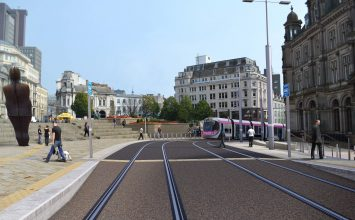 First Midland Metro tram leaves UK to be fitted with batteries.