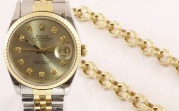 Rolex watches and a £1,200 gold chain among 80 items stripped from criminals to go under the hammer.