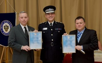 Brave West Midlands Police officer receives award after helping children from burning bus