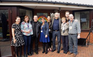 Music legends UB40 pay a visit to Acorns Children's Hospice in Selly Oak