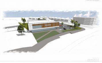 Northfield Leisure Centre – construction work starts with help from local children's art.