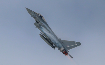 Typhoon aircraft deployed to intercept a civilian aircraft and escort it to Birmingham Airport.