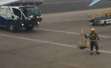 Monarch flight aborted at Birmingham Airport after suspected engine fault.