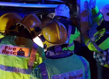 Young man and sister escape without serious injuries following a collision on the M6.