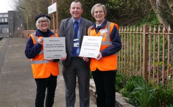 Two Hall Green gardeners get local railway stations blooming.
