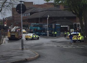 Victoria Road in Sutton Coldfield closed after an elderly woman was hit by a bus.
