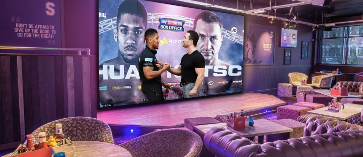 Anthony Joshua vs Wladimir Klitschko fight will be showing on the biggest screen in Birmingham.
