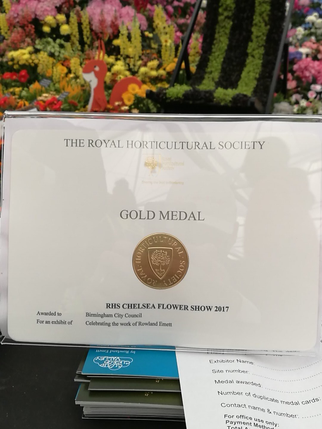 Gold Medal For The Birmingham City Council Garden At