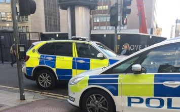 Man has been arrested following a disturbance near a vigil in Victoria Square.
