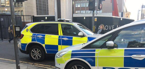 Man has been arrested following a disturbance near a vigil in Victoria Square.