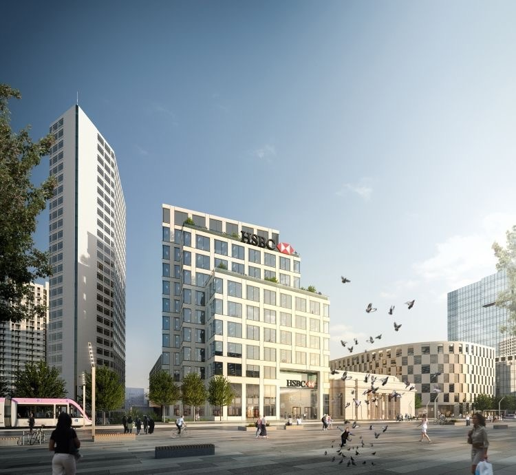 HSBC UK tops out new head office in the city centre