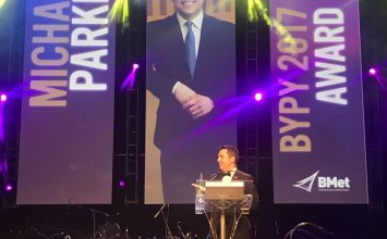 Michael Parker named Birmingham Young Professional of the Year 2017