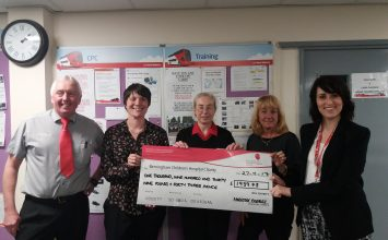 National Express West Midlands raises almost £2K for Birmingham Children's Hospital