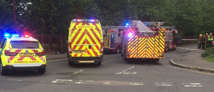 Family of seven treated for smoke inhalation following house fire in Bordesley Green.