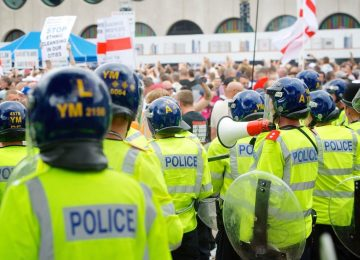 Policing operation in place for Britain First protest in the city centre.