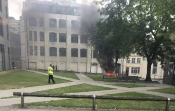 Investigation underway after a homeless man's tent was set alight in the city centre.