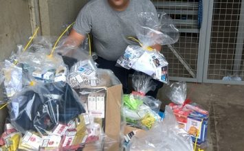 30,000 illegal cigarettes seized during six raids across the city.