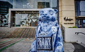 Peaky Blinders bear to watch over The Big Sleuth sculpture trail this summer.