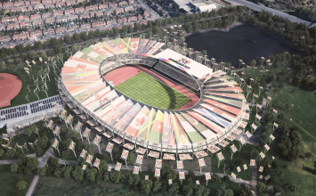 New images of rejuvenated Alexander Stadium for Commonwealth Games 2022 bid.