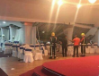 Six people injured after the ceiling collapsed during a school prom at Al-Miraj Banqueting Suite.