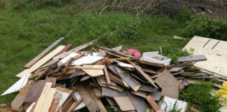 Fly-tipped rubbish in Brandwood, Birmingham
